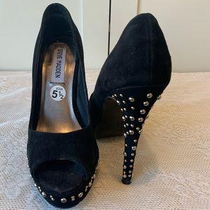 Steve Madden Pep Toe Heels with Studded Heels